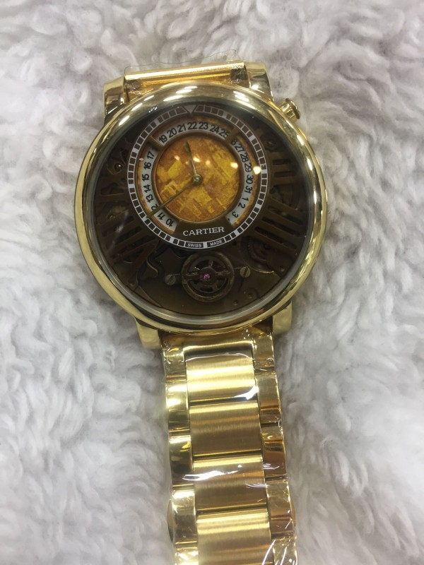 Réplica de relógio Cartier lançamento Aço CLPA-001