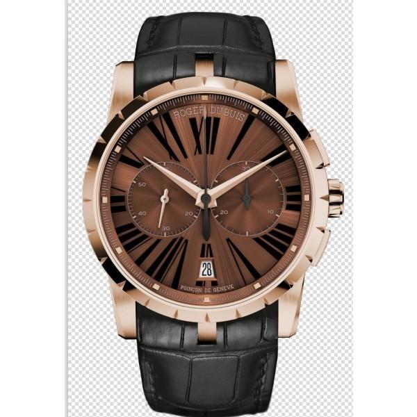 Réplica de relógio Réplica de Relógio Roger Dubuis Excalibur Chronograph Marrom