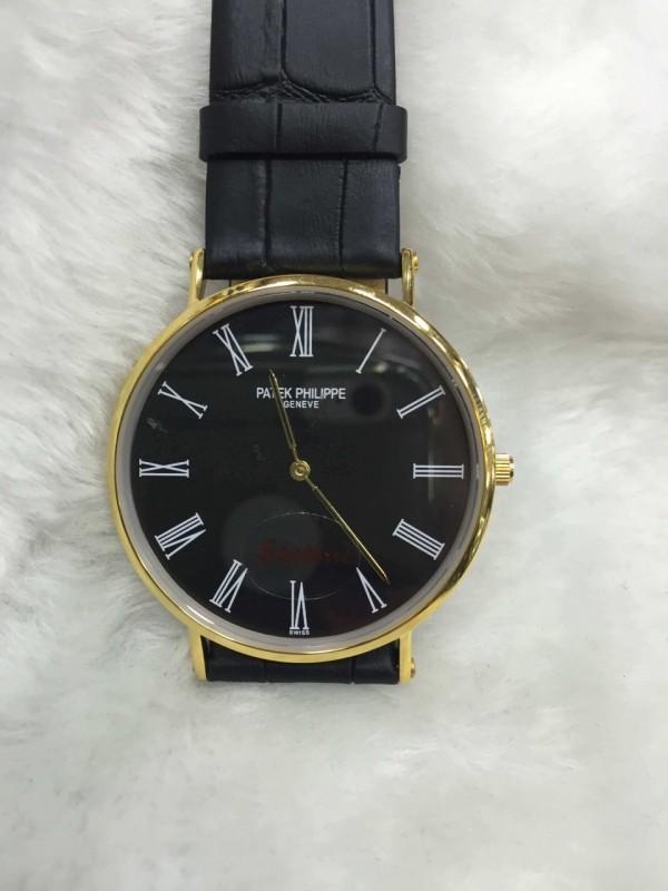 Réplica de relógio  Patek Philippe Fino Pulseira Couro Grande PPGPC-002