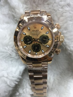 Réplica de relógio Rolex Daytona Pulseira AÇO Rose 40mm RRDRSEPA-001