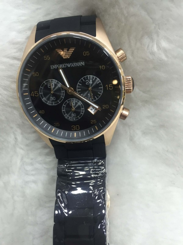Réplica de relógio Empório Armani AR Borrachada ARMBPO-0010