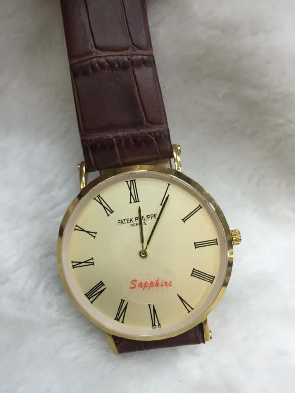 a9245766438 Réplica de relógio Patek Philippe Fino Pulseira Couro Grande PPGPC-004 ...