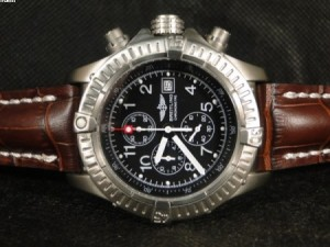 Réplica de relógio REPLICA DE RELOGIO BREITLING AVENGER TITANIUM COURO - BRT15