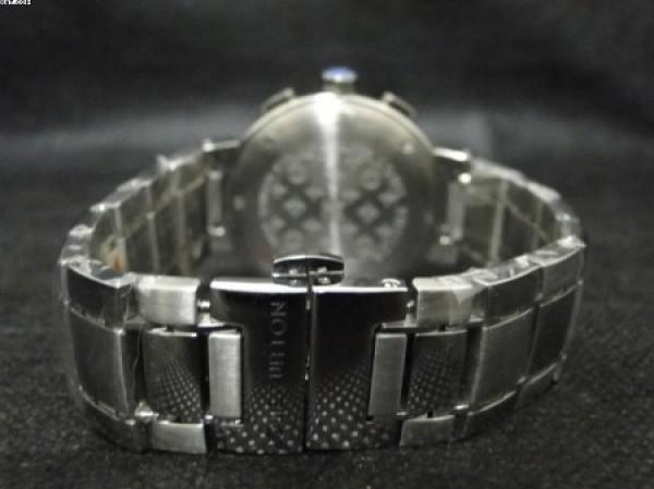 Réplica de relógio REPLICA DE RELOGIO LOUIS VUITTON AÇO FUNDO MARRON - LVT04