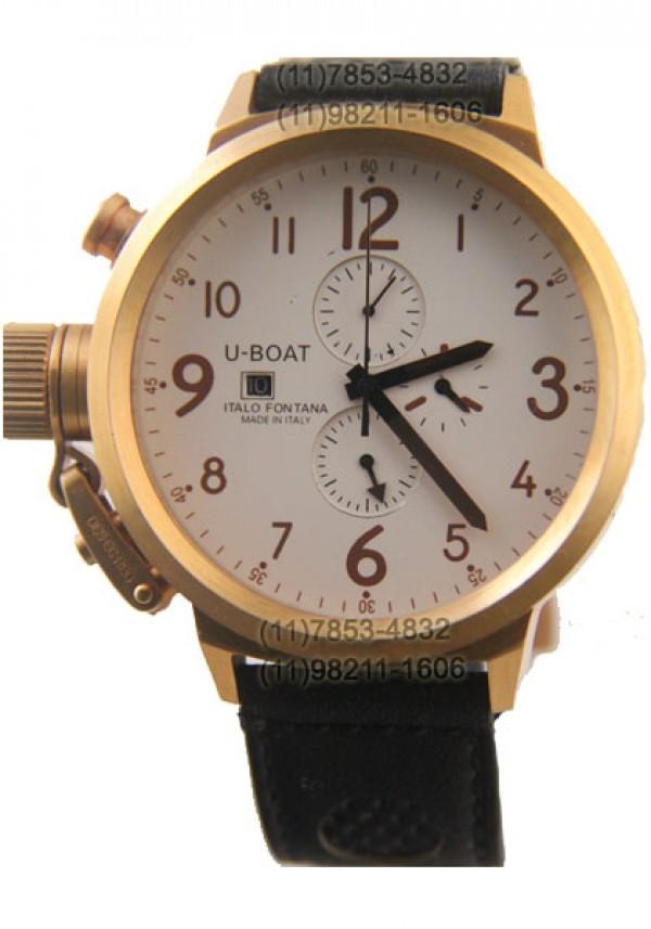 f609a00a33e Réplica de relógio Réplica de Relógio U-Boat Ítalo Fontana Gold White ...