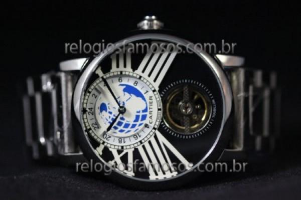 Réplica de relógio RÉPLICA DE RELÓGIO CARTIER MUNDI AÇO