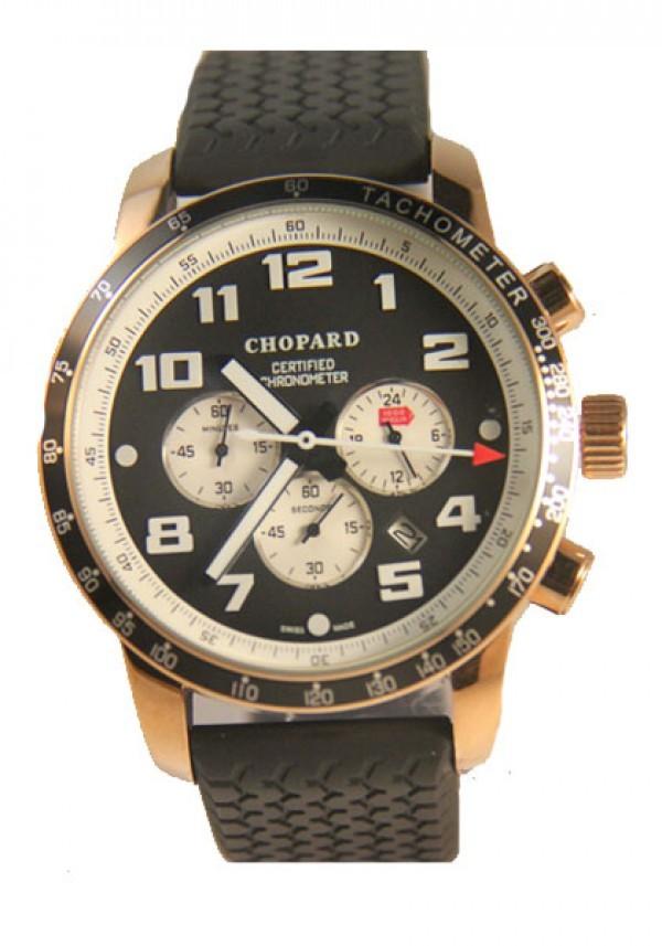 f9968ce0283 Réplica de relógio Réplica de Relógio Chopard Mille Miglia Gold Black ...