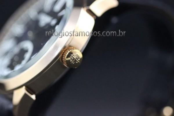 Réplica de relógio RÉPLICA DE RELÓGIO PATEK PHILIPPE COURO