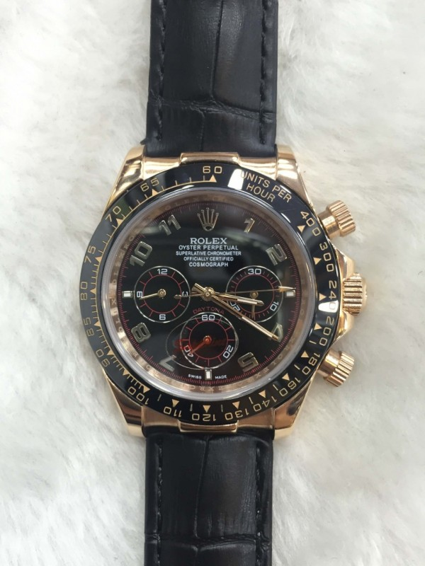 7f7c4634abf Carregando zoom. Réplica de relógio Rolex Daytona Couro Normal RDCO-002 .