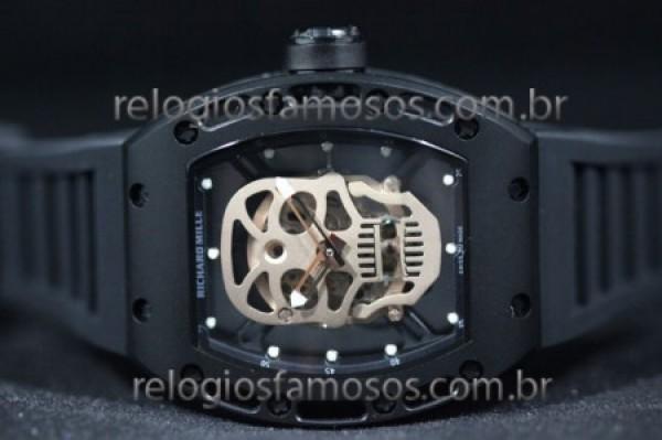 Réplica de relógio RÉPLICA DE RELÓGIO RICHARD MILLE CAVERA PVD