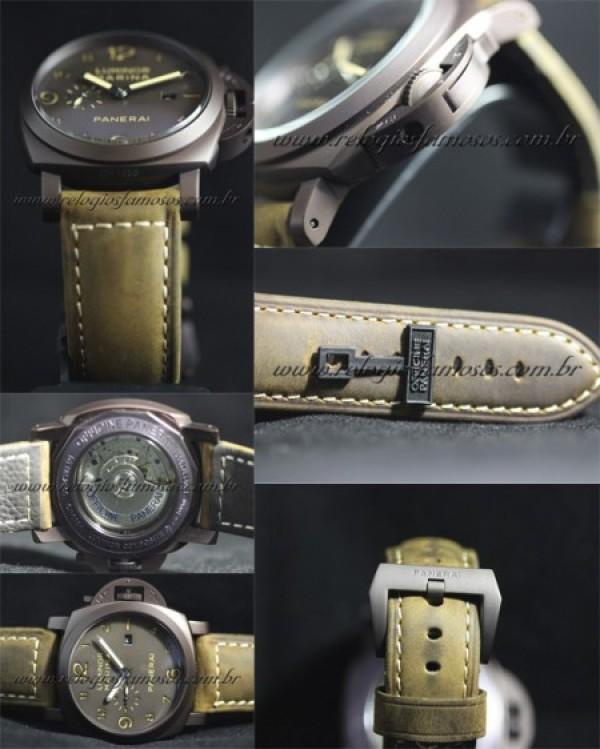 Réplica de relógio 'REPLICA PANERAI LUMINOR MARINA MARROM