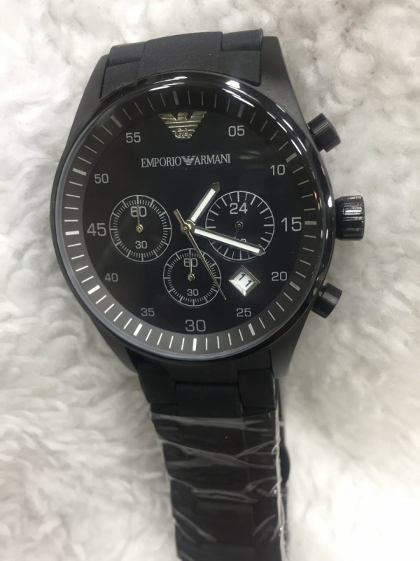 Réplica de relógio Empório Armani AR Borrachada ARMBPO-007