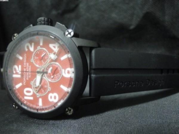 Réplica de relógio REPLICA DE RELOGIO PORSCHE DESIGN INDICATOR PVD VERMELHO - POR05