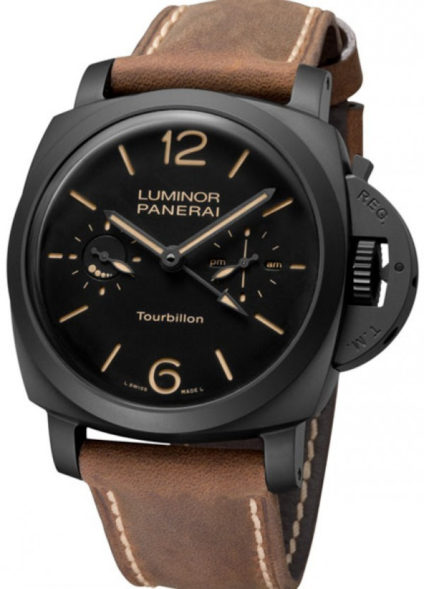 Réplica de relógio Réplica de Relógio Panerai Luminor Toubillon GMT Cerâmica