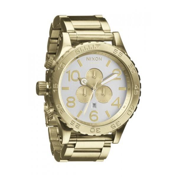 Réplica de relógio Réplica de Relógio Nixon The 51-30 Dourado Branco
