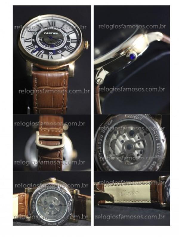 Réplica de relógio RÉPLICA DE RELÓGIO CARTIER COURO 26/50