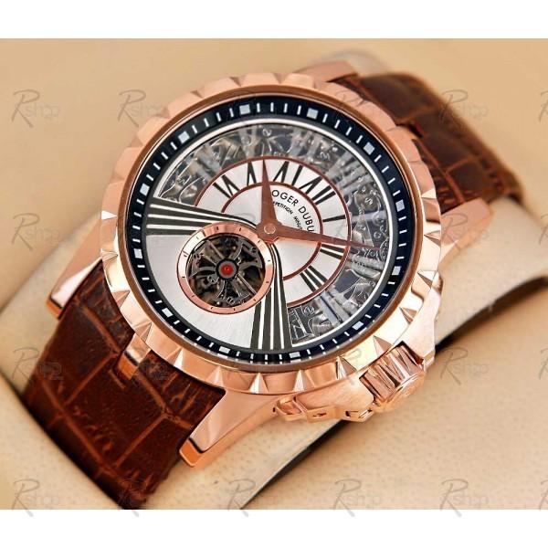 af23fff6537 Réplica de relógio Réplica de Relógio Roger Dubuis Excalibur Minute Gold  White ...