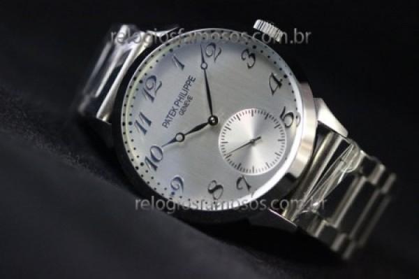 Réplica de relógio RÉPLICA DE RELÓGIO PATEK PHILIPPE GENEVE AÇO