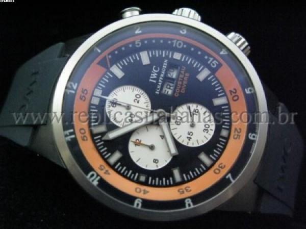Réplica de relógio REPLICA DE RELOGIO IWC COSTEAUS DIVERS BORRACHA - IWC01