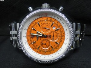 Réplica de relógio RÉPLICA DE RELOGIO BREITLING BENTLEY MOTORS LARANJA - BRT23