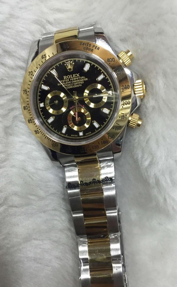 Réplica de relógio Rolex Daytona Pulseira AÇO  40mm RRMCDDPA-002