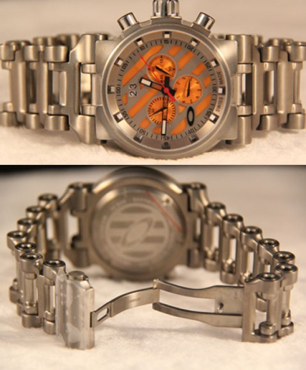 Réplica de relógio Réplica de Relógio Oakley Hollow Point Titanium Orange
