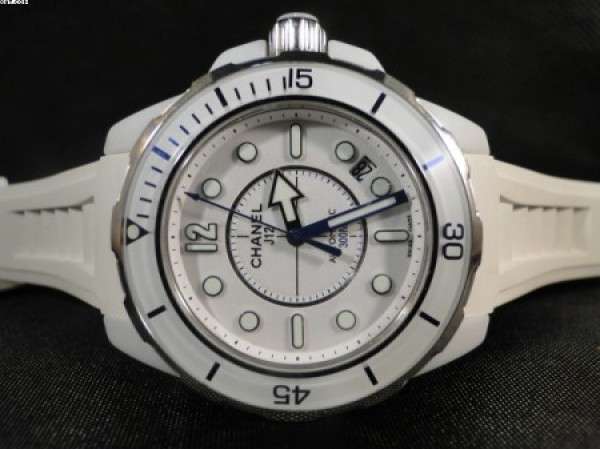 Réplica de relógio REPLICA DE RELOGIO CHANEL MARINE CERAMIC BRANCO - CHN03