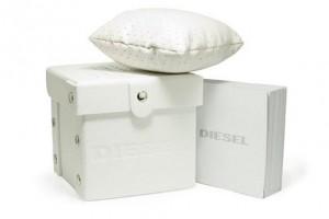 Réplica de relógio Caixa Diesel Branca Original DCXBO-001