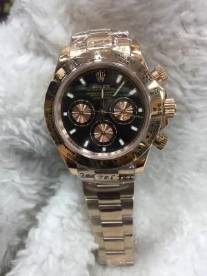 Réplica de relógio Rolex Daytona Pulseira AÇO Rose 40mm RRDRSEPA-002