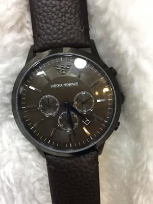 Réplica de relógio Empório Armani AR Couro RARIC-001