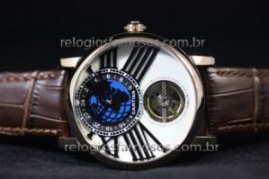 Réplica de relógio RÉPLICA DE RELÓGIO CARTIER MUNDI COURO