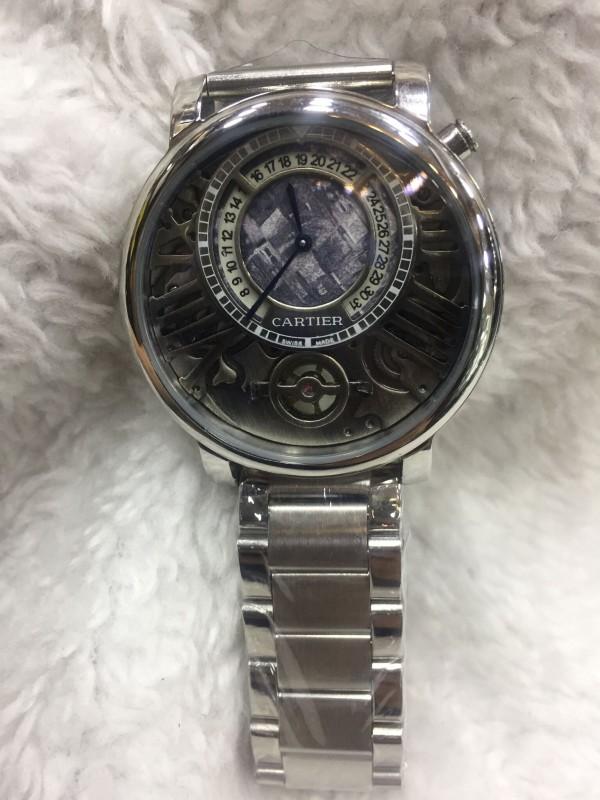 Réplica de relógio Cartier lançamento Aço CLPA-002