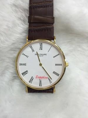 Réplica de relógio  Patek Philippe Fino Pulseira Couro Grande PPGPC-003