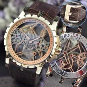 Réplica de relógio Réplica de Relógio Roger Dubuis Esquelete Rose New