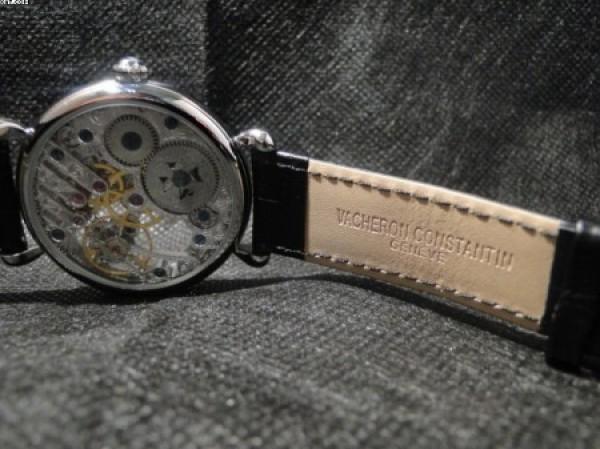 Réplica de relógio REPLICA DE RELOGIO VACHERON CONSTANTIN GENEVE SKELETON PRATA - VAC01
