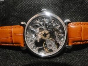 Réplica de relógio REPLICA DE RELOGIO VACHERON CONSTANTIN GENEVE SKELETON PRATA - VAC03