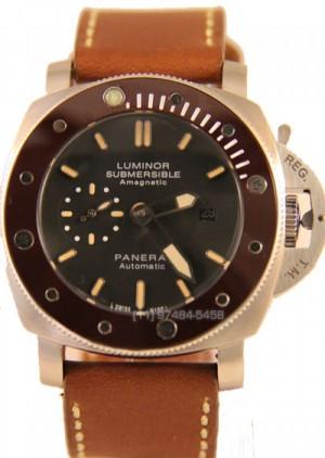 Réplica de relógio Réplica Relógio Panerai Submersible Marron Preto Cerâmica