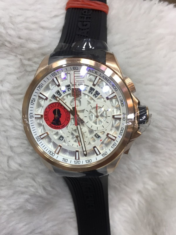 Réplica de relógio  TAG Heuer John Borracha NRTHJHB-001