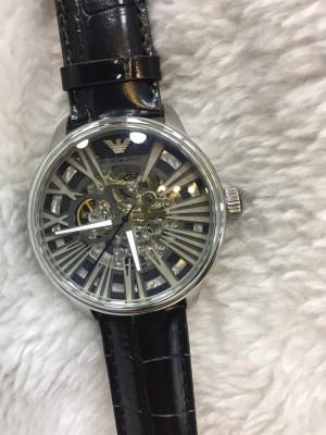 Réplica de relógio Empório Armani AR Esqueleto Couro ARMEC-002