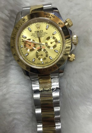 Réplica de relógio Rolex Daytona Pulseira AÇO 40mm RRMCDDPA-001
