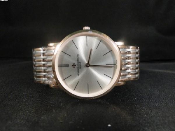 Réplica de relógio REPLICA DE RELOGIO VACHERON CONSTANTIN SLIM MISTO AÇO - VAC08