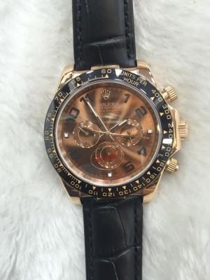 Réplica de relógio Rolex Daytona Couro Maior 45mm  DAYC45-001